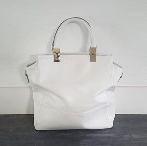 White Gold Detailed JustFab Classic Tote